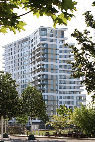 Wohnhochhaus Praedium, Europaallee, Frankfurt am Main, Liegenschaftsplan zum Bauantrag, Gebäudeeinmessung nach HVGG