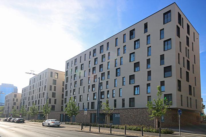 Wohngebäude auf 2 Parkgeschossen, Liegenschaftsplan für Baugenehmigung, Achsabsteckung, Amtliche Einmessung neues Gebäude, Berliner Straße, Offenbach