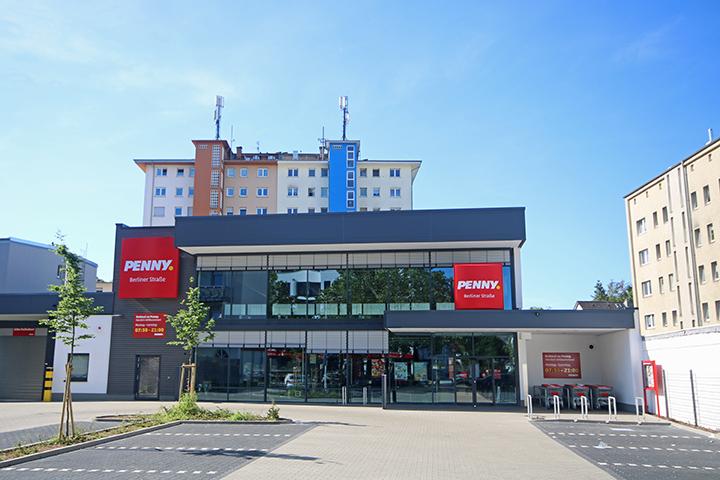 Verbrauchermarkt, Grundstücksaufmaß, Vermessung Planungsgrundlage, Vermessung Neubau für Nachweis in Katasterkarte, Berliner Straße, Offenbach/Main