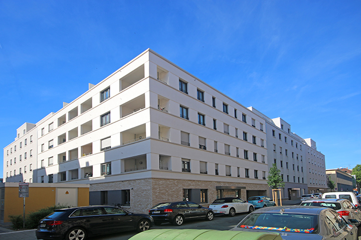 5 Mehrfamilienhäuser auf Tiefgarage, Vermessungen für Planung, Vermessungsarbeiten zur Bauausführung, Amtliche Vermessungen zum Gebäudenachweis, Christian-Pleß-Straße, Offenbach am Main
