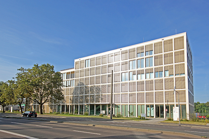 Bürogebäude Connect, Mainzer Straße, Wiesbaden, Liegenschaftsplan zum Bauantrag, Absteckung, Einmessung Gebäude für Katasterkarte, Vermessung Grenzen